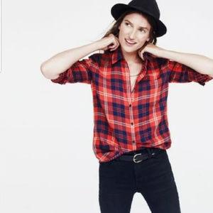 Madewell Ember Plaid Button-Down Flannel Shirt - L